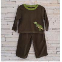 Conjunto pijama fleece quentinho dinossauro Tam. 18 meses (comprado em Miami) - 18 meses - baby Q - USA