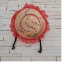 Chapéu festa junina com trança cabelo preto -  - Marca não registrada