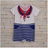Macacão curto marinheiro baby way Tam. 12-18 meses menino - 12 a 18 meses - Baby Way