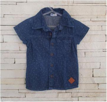 Camisa jeans linda Tam. 1 menino - 1 ano - INK