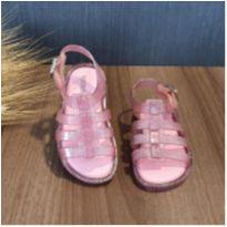 Sandália mini melissa aranha rosa glitter Tam. 19 - 19 - Melissa