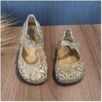 Sandália mini melissa campana dourada glitter Tam. 21 - 21 - Melissa