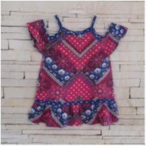 Blusa estampadinha super  fofa Tam. 3 menina - 3 anos - etiqueta foi cortada