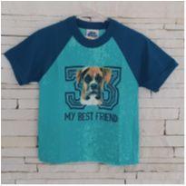 Blusa cachorrinho super fofa Tam.  menino - 1 ano - Bicho bagunça