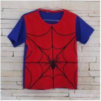 Blusa fantasia homem aranha Tam. 3 - 3 anos - etiqueta foi cortada