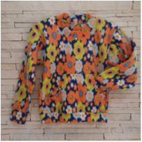 Blusa quentinha soft floral Tam. 8 menina - 8 anos - etiqueta foi cortada