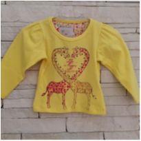 Blusa girafinhas Tam P (0-3 meses) menina - 0 a 3 meses - Solinho