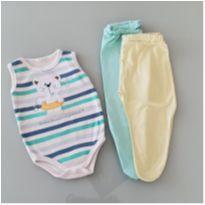 3 roupinhas bebê DOAÇÃO (0-6 meses) - 3 meses - Diversas
