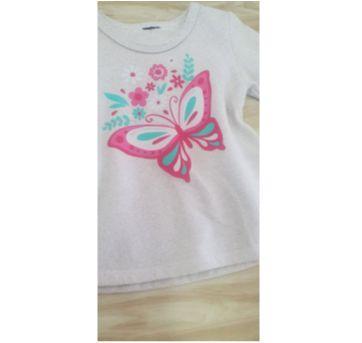 Blusa mboletinho borboletas Tam. 3 menina - 3 anos - etiqueta foi cortada