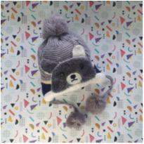 Gorro super quentinho ursinho Tam 3-4 anos menino -  - etiqueta foi cortada