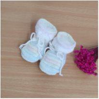 Sapato bebê 0-3 meses feito pela vovó  mod. 1 -  - Feito à mão
