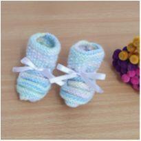 Sapato bebê 0-3 meses feito pela vovó  mod. 2 -  - Feito à mão