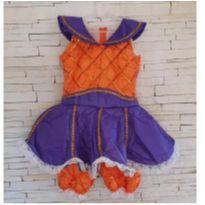 Fantasia Abóbora Halloween Tam. 4 anos - 4 anos - etiqueta foi cortada