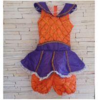 Fantasia Abóbora Halloween Tam. 6 anos - 6 anos - etiqueta foi cortada
