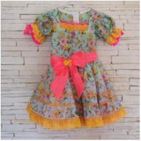 Vestido festa junina maravilhoso Tam. 4 anos - 4 anos - etiqueta foi cortada