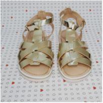 Sandália dourada ortopasso Tam. 30 - 30 - Ortopasso