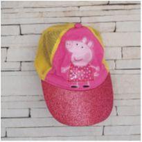 Boné infantil Peppa pig com glitter -  - etiqueta foi cortada