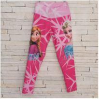 Calça legging Frozen Tam. 6 - 6 anos - etiqueta foi cortada