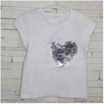 Blusa coração lantejoulas Tam. 5 anos menina - 5 anos - etiqueta foi cortada
