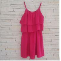 Vestido camadas Tam. 6 pink - 6 anos - etiqueta foi cortada