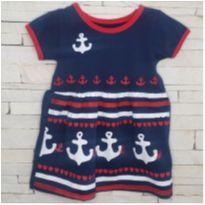 Vestido marinheira Tam. G (6-9 meses) - 6 a 9 meses - etiqueta foi cortada