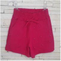 Shorts pérolas Tam 5 menina - 5 anos - etiqueta foi cortada