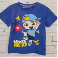 Camiseta Luccas Neto Tam. 4-5 anos - 4 anos - etiqueta foi cortada