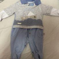 Macacão saída de maternidade + boina - 0 a 3 meses - Baby