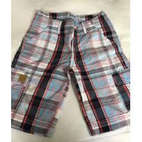 Bermuda jeans e xadrez (kit com 2 bermudas) - 7 anos - Hering Kids