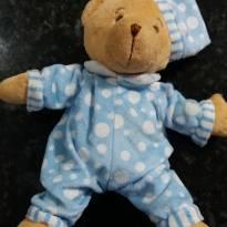 Ursinho de Pelúcia Pijama Azul - Sem faixa etaria - Não informada