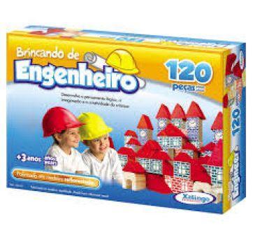 Blocos de Montar - Brincando de Engenheiro - 120 Peças - Xalingo - Sem faixa etaria - Xalingo