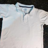 Camiseta Polo Branca Manga Curta Póim - 3 anos - Póim