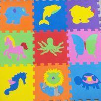 Tapete Infantil Educativo EVA Animais - Kit 9 Peças -  - Não informada