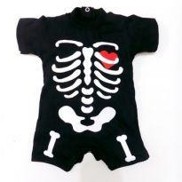 Macacão Caveirinha Halloween - 18 a 24 meses - Bebê Catitos
