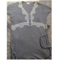 Camisola em malha para amamentação - M - 40 - 42 - Marca não registrada