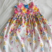 Lindo vestido estampa flores - 8 anos - Alphabeto