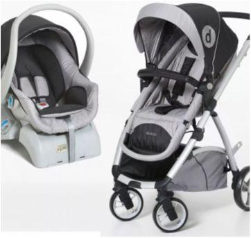 Carrinho de bebê com moisés - Sem faixa etaria - Dzieco
