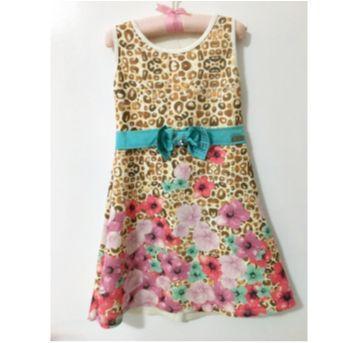 Vestido floral - 6 anos - Infanti