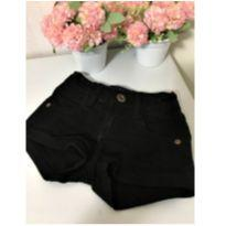 Shorts preto - 2 anos - Malwee