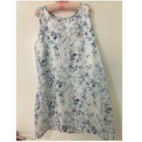 Vestido azul flores - 7 anos - Lilica Ripilica