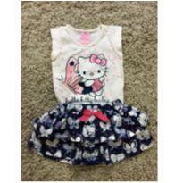 Conjunto borboletas - 9 a 12 meses - Hello  Kitty