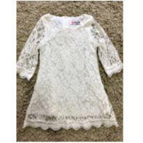 Vestido branco renda - 3 anos - Não informada