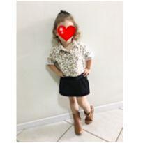 Saia shorts veludo - 2 anos - Momi