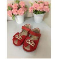 Sandália vermelha - 21 - Maria Caramelo