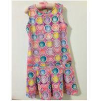 Vestido bolas coloridas - 7 anos - Colorittá