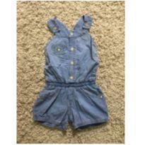 Macaquinho jeans - 12 a 18 meses - Lilica Ripilica