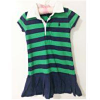 Vestido verde/marinho - 2 anos - Ralph Lauren