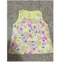 Blusa amarela flamingos - 3 anos - Não informada