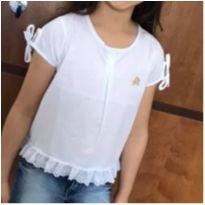 Blusa branca com lesie - 5 anos - Boca Grande
