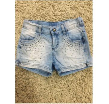 Shorts jeans com aplique - 5 anos - Carinhoso